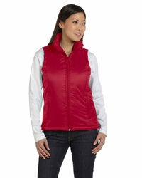 Women's 100% Nylon Polyfill Vest with Inside Storm Flap