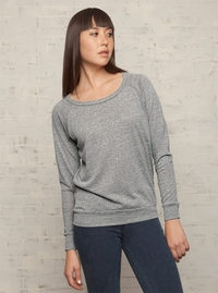 Women's Raglan Sleeves Wide Neck Pullover
