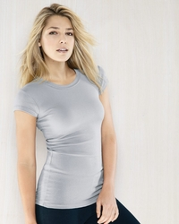 Women's Sheer Longer Length Rib T Shirt
