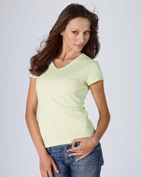 Women's V Neck 100% Cotton T Shirt