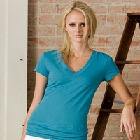 Women's V-Neck Sheer Jersey T-Shirt