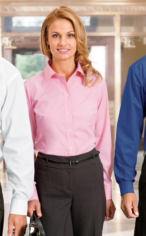 Women's Wrinkle and Stain-Resistant Dress Shirt