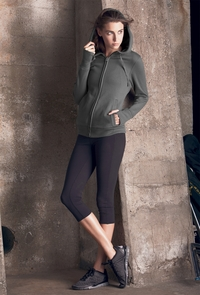 Women's Fleece Full-Zip Hoodie with Runner's Thumb