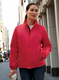 Women's100% Nylon Polyfill Jacket with Inside Storm Flap