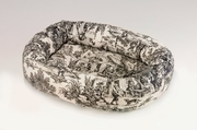 Bowsers Onyx Toile Microvelvet Donut Bed