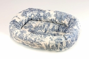 Bowsers Donut Bed Wedgewood BlueToile Microfiber