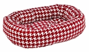 Bowsers Donut Bed - Canterbury Check Microvelvet