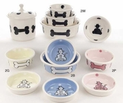 Cat & Bone Design Bowls & Treat Jars