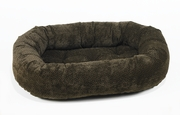 Bowsers Chocolate Bones Microvelvet Donut Bed