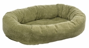 Bowsers Green Apple Bones Microvelvet Donut Bed