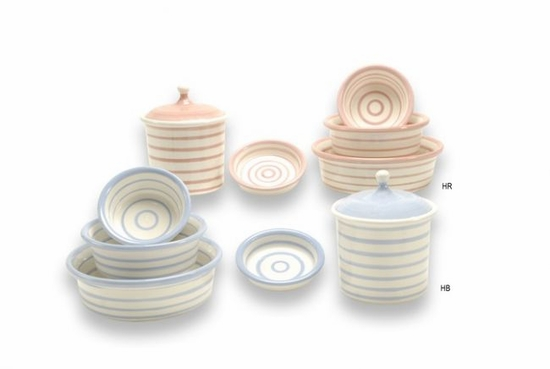Horizontal Stripes Bowls & Treat Jars
