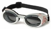 ILS Doggles - Silver Skull with Light Smoke Lens
