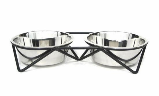 Isosceles Low-raised Double Diner for PetWare Large Bowls