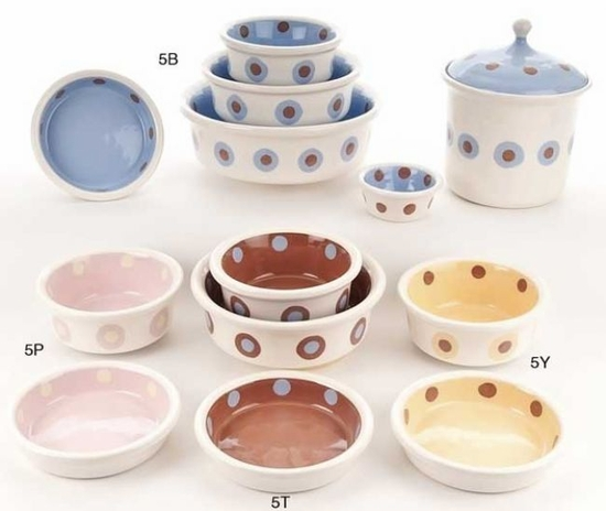 Large Dot Bowls & Treat Jars