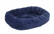 Bowsers Navy Filigree Microvelvet Donut Bed