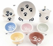 Paw Print Bowls & Treat Jar