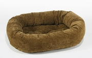 Bowsers Pecan Filigree Microvelvet Donut Bed