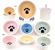 Single Pawprint Bowls & Treat Jars