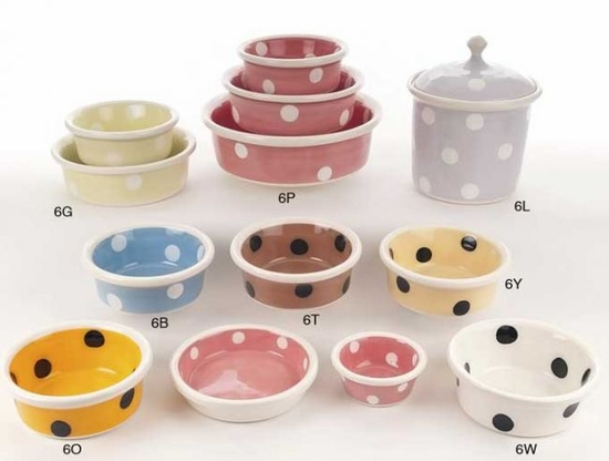 White or Black Dot Bowl or Treat Jar
