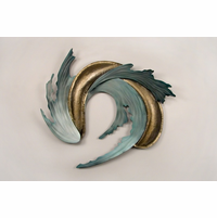 Amber Waves of Oceana Modern Metal Wall Decoration