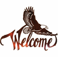 American Bald Eagle Welcome Metal Wall Art  sc 1 st  Metal Wall Art & Unique Collection of Cowboy Western Metal Wall Art!