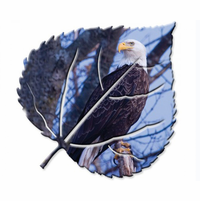 Bald Eagle Leaf Wall Art