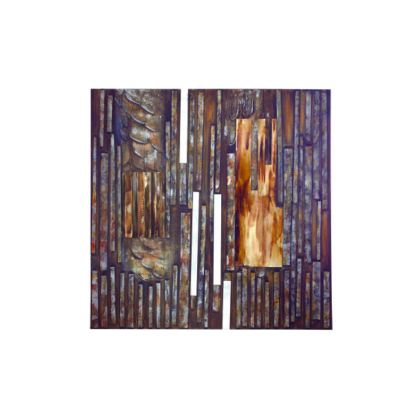 Bands of Copper Metal Wall Art