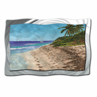 Barefoot Beach Tropical Wall Art