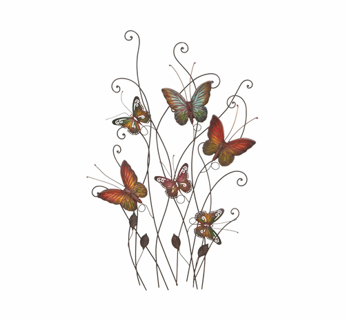 Butterfly Gathering Metal Wall Hanging