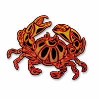 Crabby Crustacean Metal Art