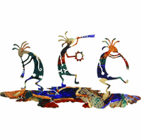 Dance of the Kokopellis Metal Wall Sculpture