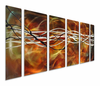 Definitively Wired Modern Metal Art Set of 6