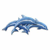 Dolphin Divers Metal Wall Art