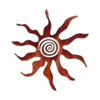 Eclectic Sunburst Metal Wall Sculpture