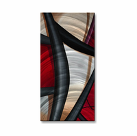 Elegant Contrasts Metal Wall Hanging