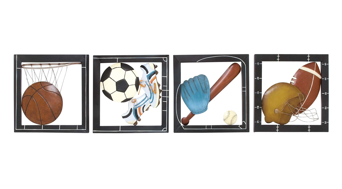 Fab Four Sports Wall Decor Zoom Click Image To Enlarge