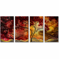 Red Wall Art oversized & large metal wall art -decor sculptures, clocks & more
