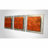 Genial Fiery Jolt Metal Wall Art