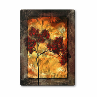 Fire of Autumn Trees 3-D Handmade Metal Wall Art