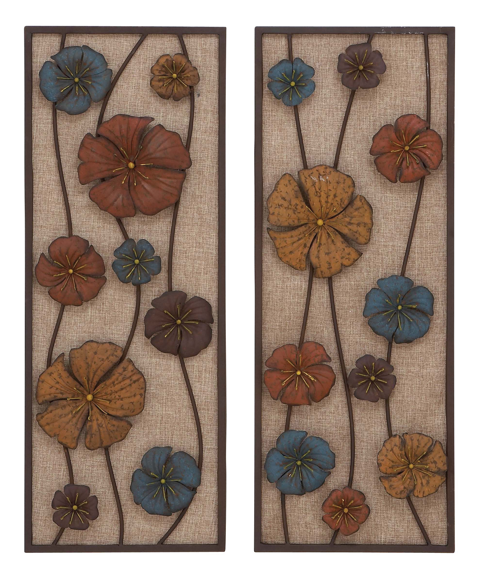 Floating Blooms Floral Wall Decor Set Of 2