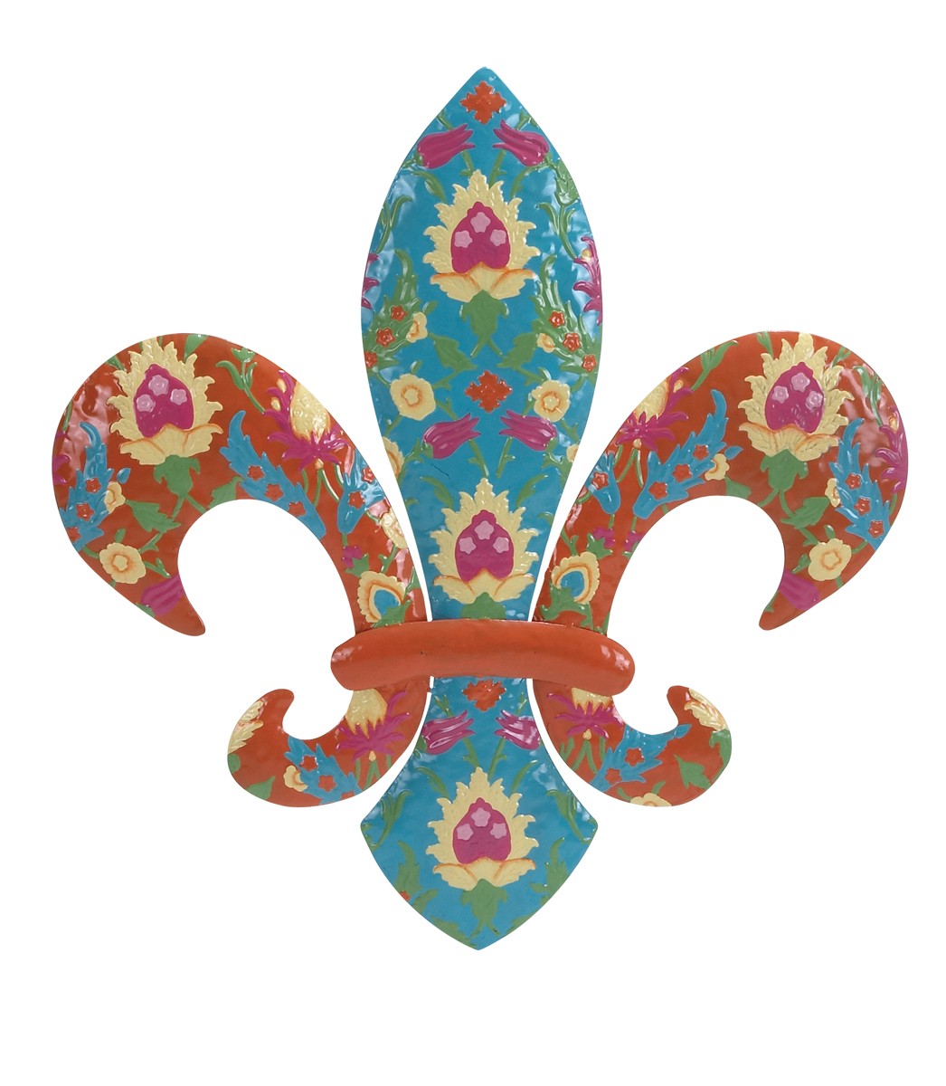 Flowers And Fleur De Lis Wall Art