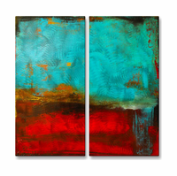 Fury of Red Wall Art Set of 2