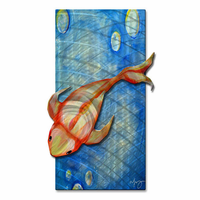 Golden Diver Fish Wall Art
