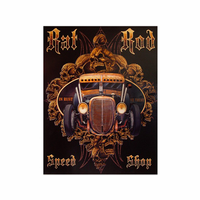 Gothic Rat Rod Wall Art