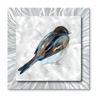 Huddled Against the Wind Bluebird Art