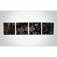 Magical Monochrome Metal Wall Art