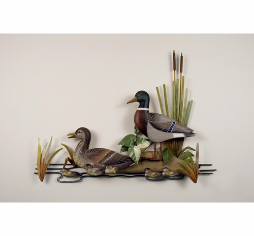 Mallards in the Sand Handcrafted Metal Wall Hanging