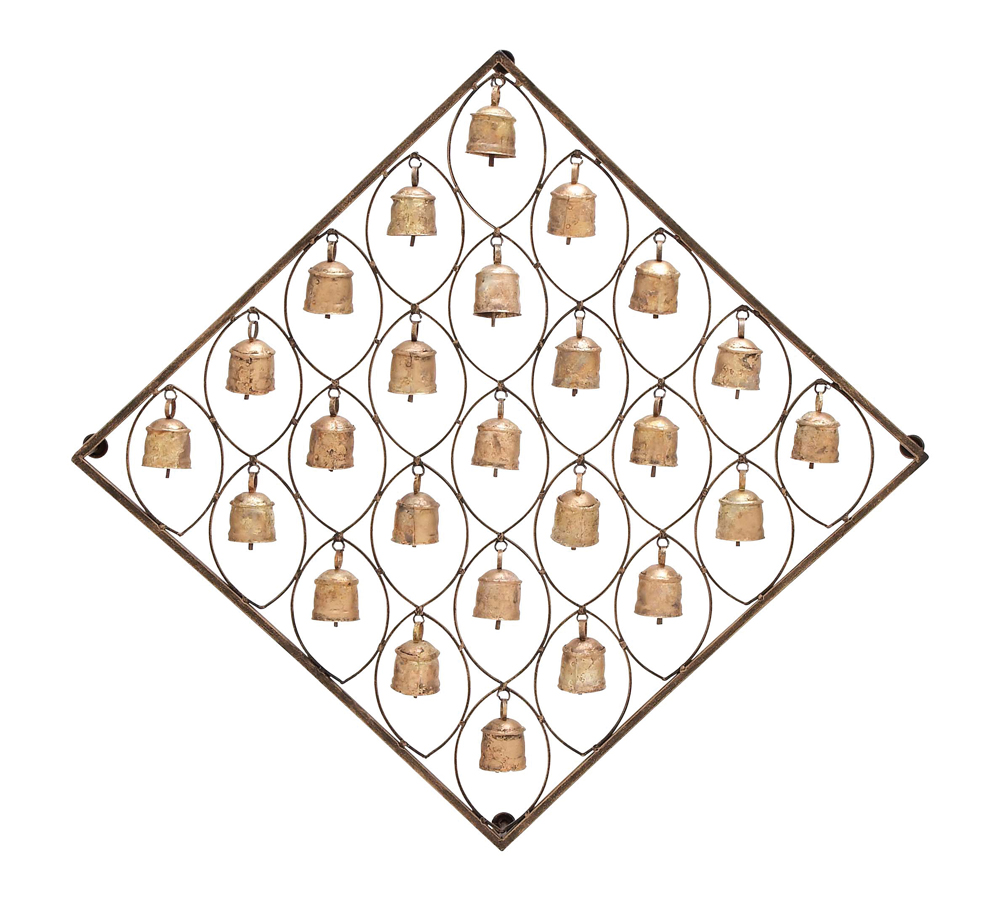 Southwest decor wall hangings : Mission bells southwest wall decor