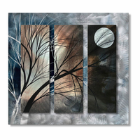 Moonlight Through the Trees Metal Wall Art