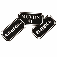 Movie Time Tickets Metal Art